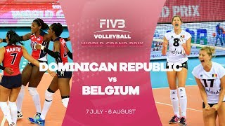 The Dominican Republic and Belgium were quite evenly matched but after some incredible spikes from the Dominican Republic ...