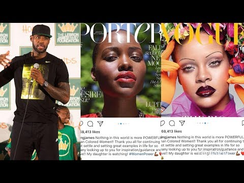"Whoever Is Excluded Will Complain | Lebron James Praises ""Colored Women"" On IG"