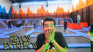 Video Retos en un Parque de Trampolines con Fans y Niños le Pegan a Papás con Balones - VLOG #72 MP3, 3GP, MP4, WEBM, AVI, FLV Januari 2019