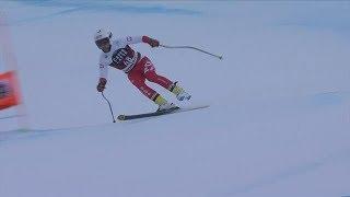 Paweł Babicki zjeżdża na jednej narcie w Bormio