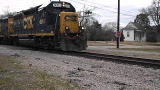 Franklinton (NC) United States  city pictures gallery : CSXT train passing old wooden Franklinton, NC Depot