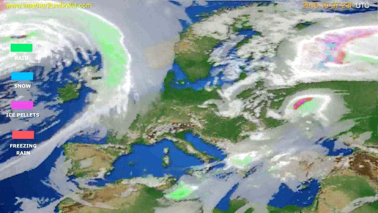 Precipitation forecast Europe // modelrun: 12h UTC 2019-10-04