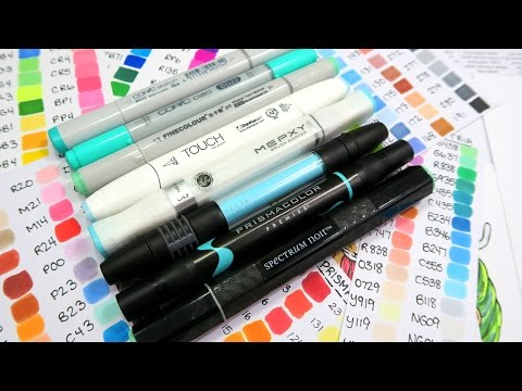 Marker Comparison: Alcohol-Based Alternatives to Copic