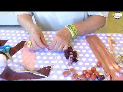 tutorial per realizzare una collana di stoffa e perline