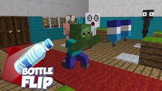 Video Monster School: Bottle Flip Challenge - Minecraft Animation MP3, 3GP, MP4, WEBM, AVI, FLV Februari 2019