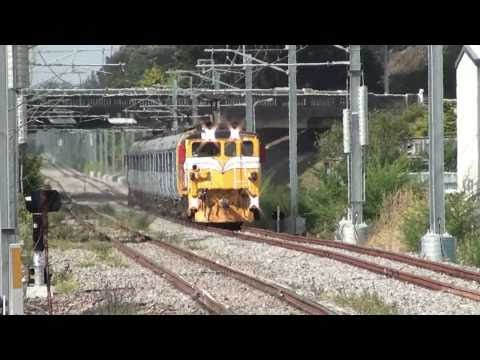KiwiRail EO and Ganz-Mavag electric test train Paraparaumu NZ 16 Jan 2011