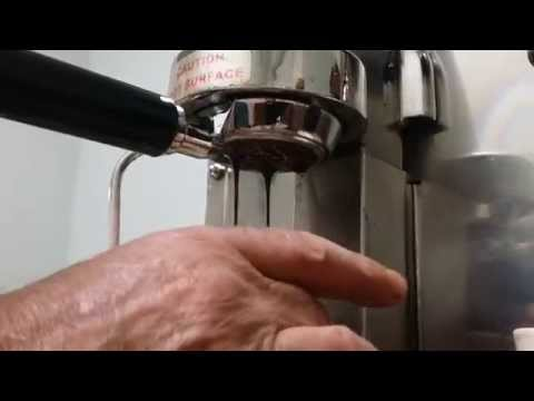 Astra espresso machine bottomless portafilter shot pull