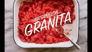 We are making watermelon granita! It has been so hot these past couple of days and when it is too hot to turn on my oven to bake, ...