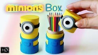 Minion box MATERIALS :- Foam (foamy)- Cardboard tube-- Marker- Cutter- Glue- Ruler, pencil and scissors----------------------- Follow us in Social Media   -------------------------Facebook : https://www.facebook.com/PH-Handmade-458911934269450/?ref=hlTwitter      :  https://twitter.com/PH_handmadeİnstagram :  https://www.instagram.com/ph_handmade/Skype         :  P&H HandmadeSUBSCRİBE : https://www.youtube.com/channel/UCUxBk6sDsU2t1NAw4bcgGnQ------------- Watch another videos --------------How to make : origami moving cubes : https://www.youtube.com/watch?v=ndGMSE8TjX0&index=10&list=PLbzIiG58yuesnef9OufB9oshh5zK5a2wQHow to make nightmare freddy's claws : https://www.youtube.com/watch?v=qJU1I3MZcyY&list=PLbzIiG58yuesnef9OufB9oshh5zK5a2wQ&index=11Red hot nickel ball reactions : https://www.youtube.com/watch?v=4xQmNbqpVR0&list=PLbzIiG58yuevj7zYv8vzxYf7g2G0GFFZu