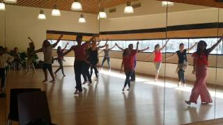 Triwat dance school in Paris . Its a regular saturday class for all levels.