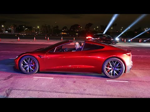 The New Tesla Roadster Test Ride
