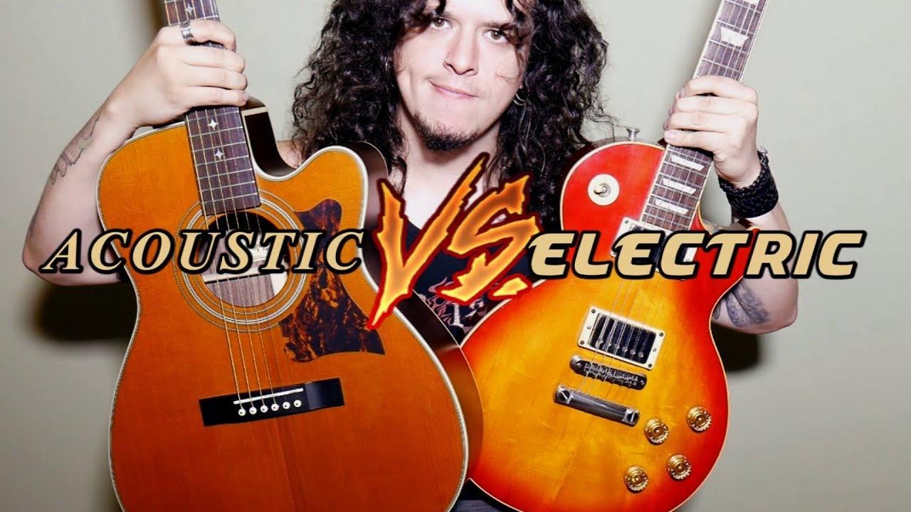 Acoustic VS Electric: a guitar battle!