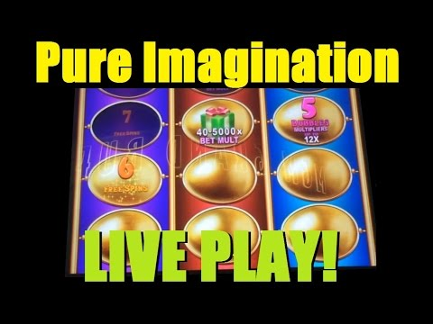 ★ ALL 3 SLOT BONUSES PURE IMAGINATION SLOT MACHINE! Live Play on Wonka PI – See all 3! ~ DProxima