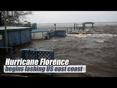 "Live: Hurricane Florence begins lashing US east coast 飓风""佛罗伦斯""即将登陆美国东海岸"