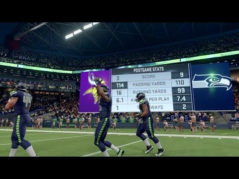 Seattle Seahawks vs Minnesota Vikings | NFL 20 Week 13 Live Gameplay