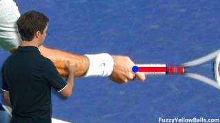 http://www.fuzzyyellowballs.com/improve-your-forehand-in-... This video examines the grip that Roger Federer uses ...