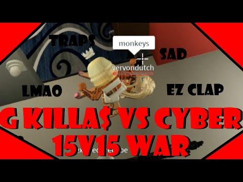 15v15 WAR VS CYBER, ANOTHER WIN! PERYAT!! (ROBLOX) DA HOOD GAMEPLAY