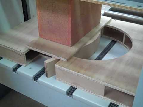 Bending Compressed Wood in a Case Clamp