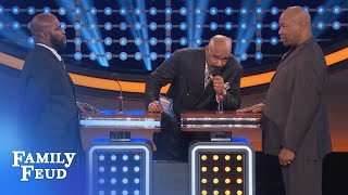 Video Steve wants to GO HOME! | Celebrity Family Feud | OUTTAKE MP3, 3GP, MP4, WEBM, AVI, FLV Desember 2018