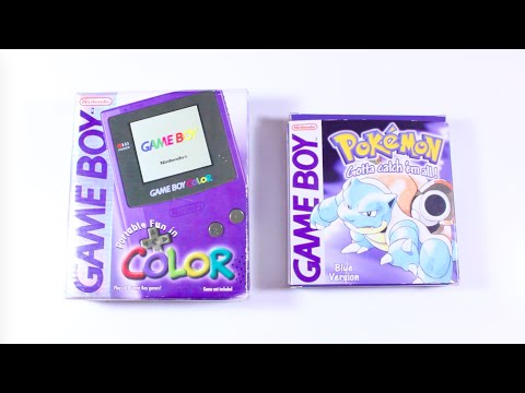 Unboxing Original 1998 Gameboy Color & Pokemon Blue