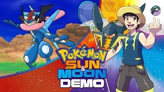 Pokemon Sun and Moon Demo Gameplay LIVE! aDrive Plays Pokemon Sun and Moon Special Demo Version by aDrive