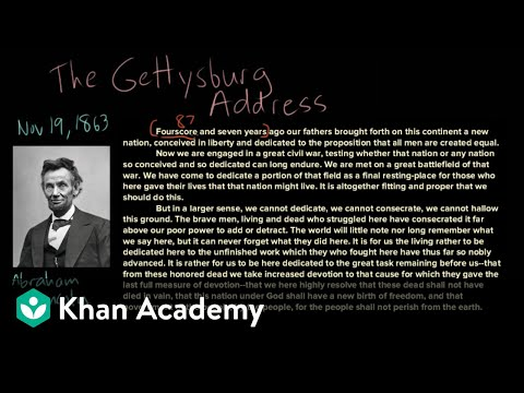 Example Of Thesis Statement For Argumentative Essay  Advanced English Essay also What Is A Synthesis Essay The Gettysburg Address  Full Text And Analysis Video  Khan Academy How To Write A Synthesis Essay