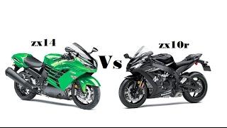 5. 2017 Kawasaki ZX14  VS  2016 Kawasaki  ZX10R winter edition review !!