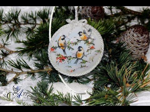 decoupage - medaglione natalizio con stend