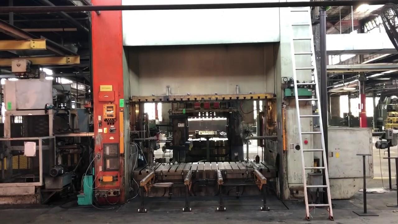 400 ton Komatsu E2G-400-120 Straight Side Press, New 1984