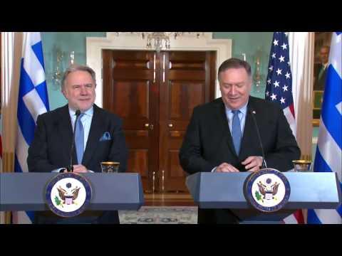 """Video - Μάικ Πομπέο: """"Κρίσιμος σύμμαχος η Ελλάδα και ηγέτιδα στην περιοχή"""" - Οι ΗΠΑ θα μείνουν μόνο στα λόγια;"""