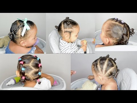 Curly hairstyles - 5 TODDLER HAIRSTYLES IN 5 MIN- HAIRSTYLES FOR BABIES WITH CURLS