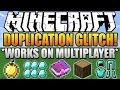 Minecraft 1.8 Multiplayer Servers Duplication GLITCH Duplicate Items on Servers