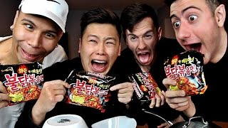 SCARY KOREAN FIRE NOODLE CHALLENGE!!!