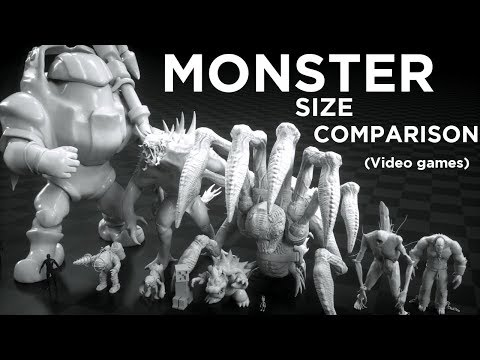 A Size Comparison of Video Game Monsters