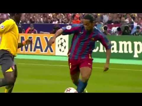 Ronaldinho Vs Arsenal (FC UCL Final) 2005 - 2006 HD 1080i