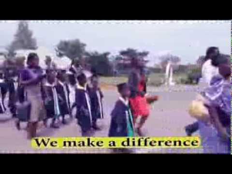 Child Africa Equator School children entertaining visitors by marching in the street