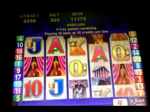 Flame of Olympus slot machine $5 bet, 15 spin bonus round, Rio Las Vegas, March 2013