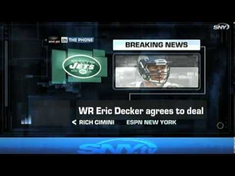 The New York Jets sign Eric Decker