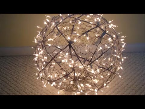 DIY: How To Make Giant Lighted Balls