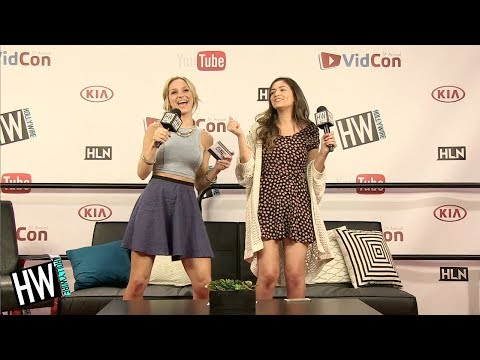 Bethany Mota & Chelsea Briggs Nerdy Dance On Stage! (VIDCON 2014)