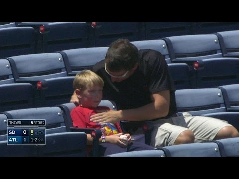 celebrates - 7/28/14: After a fan gets a foul ball in the stands, he celebrates with his son Check out http://m.mlb.com/video for our full archive of videos, and subscribe on YouTube for the best, exclusive...
