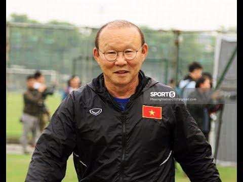 Thầy Park không chịu nổi khi tập thử bài khởi động của U23 Việt Nam vì đau lưng - Thời lượng: 11 phút.