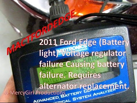 2011 Ford Edge voltage regulator failure shunting charge with no battery light