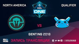 Immortals vs Blue Pikachu, ESL One Genting NA Qualifier, game 2 [Mila, Inmate]