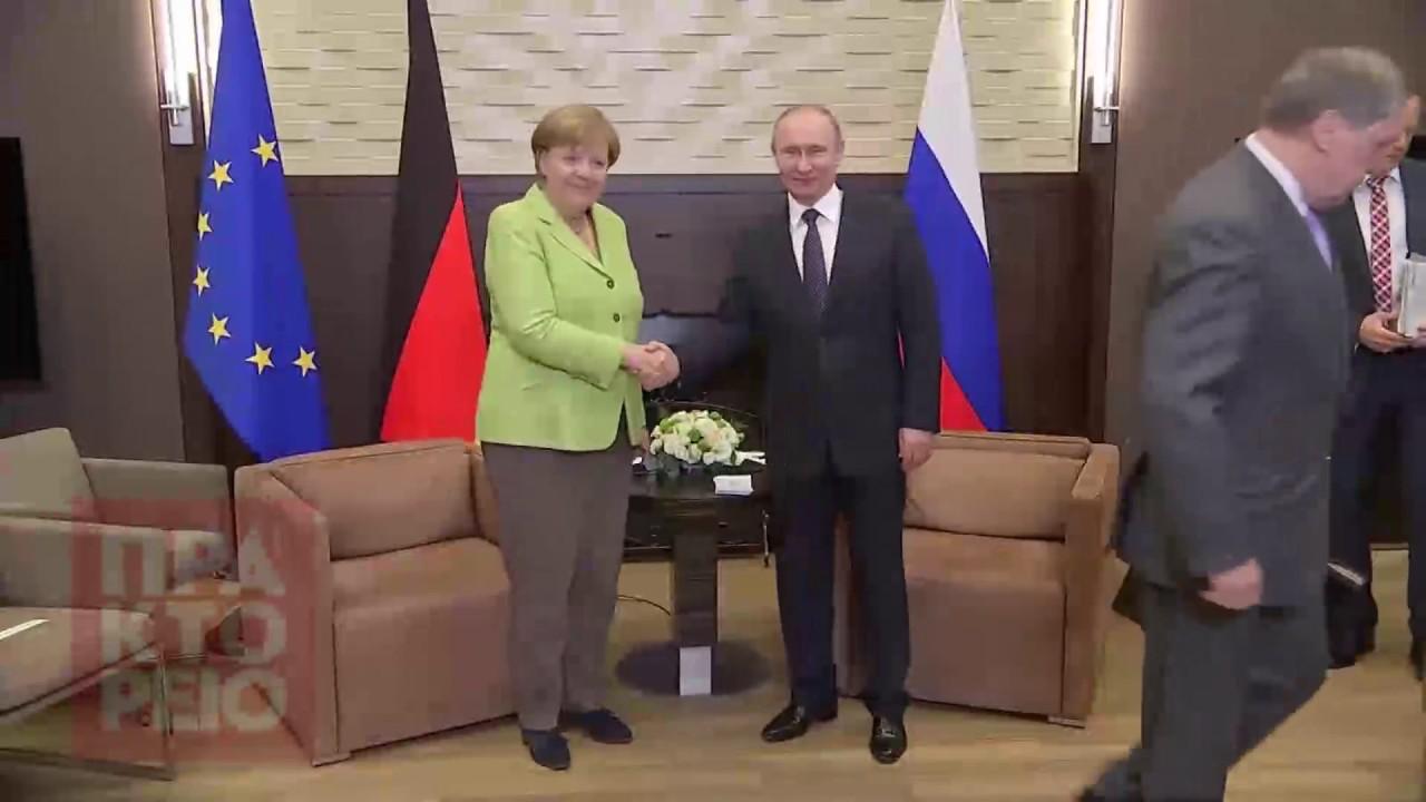 Συνάντηση Μέρκελ – Πούτιν  στο Σότσι