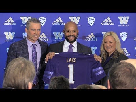 Washington football press conference addressing coaching change