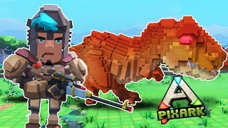 PixARK: How to Tame the Rarest DINOSAURS! (Minecraft + Ark + Cubeworld)