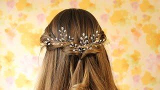 свадебные прически и украшения для волос