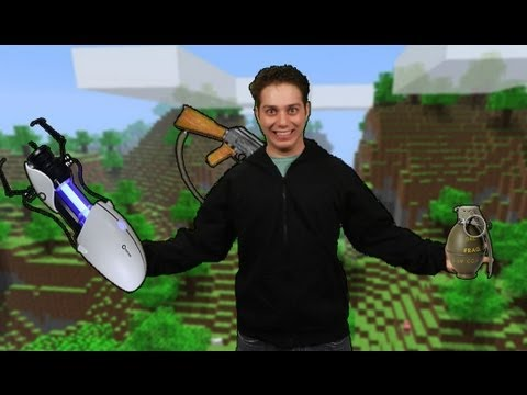 MineCraft Plus Portal Gun Equals Awesome!