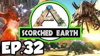 ARK: Scorched Earth Ep.32 - TRAPPED IN A HEAT WAVE, GREENHOUSE WALLS!!! (Modded Dinosaurs Gameplay)